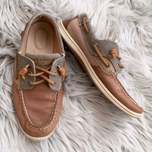 Sperry Rosefish Top-Sider Leather Canvas Boatshoes